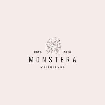 Monstera deliciosa deliciousaの葉のロゴ