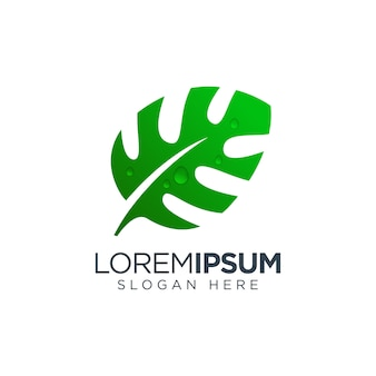 Monstera leaf logo