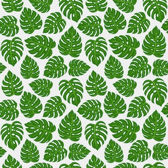 Monstera листья бесшовные шаблон