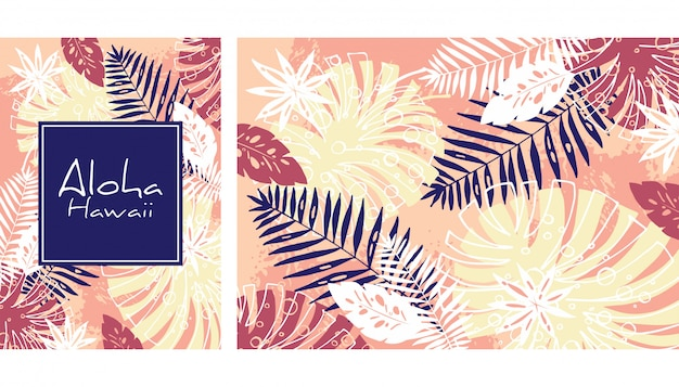 Monstera and palms print.