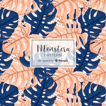 Monstera seamless pattern