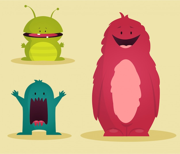 Monsters set illustration