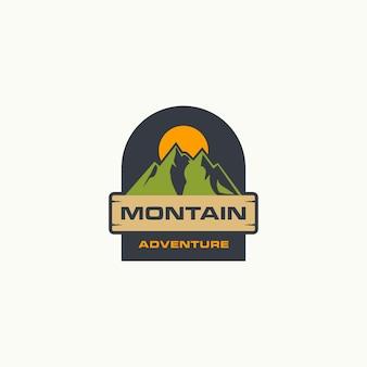Montain and adventure logo premium
