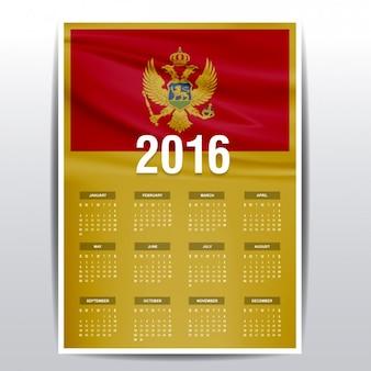 Montenegro calendar of 2016