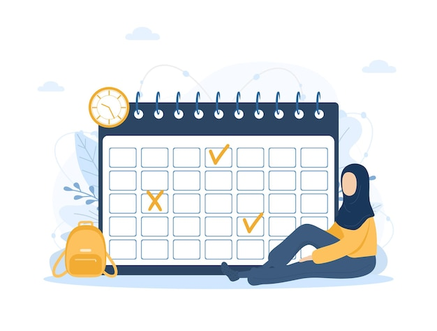 Month planning or to do list concept calendar