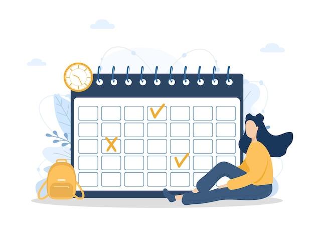 월 계획 또는 할 일 목록 개념