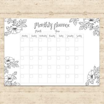 Monthly planner design