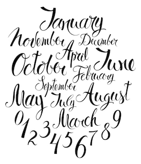 Months of the year and numbers