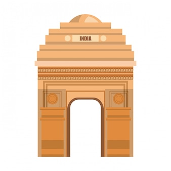 Monument gate delhi india country design
