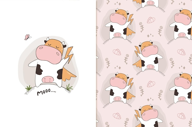 Moo super cow pattern