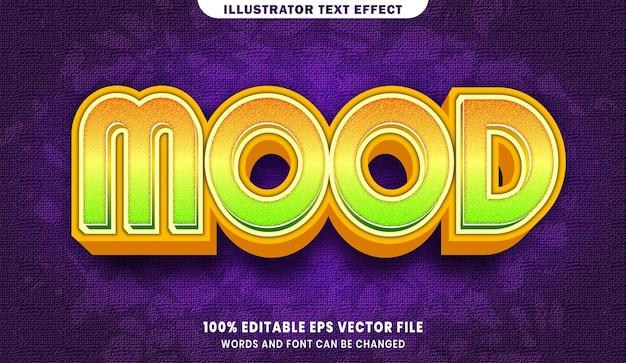 ムード3d編集可能なテキストスタイル効果