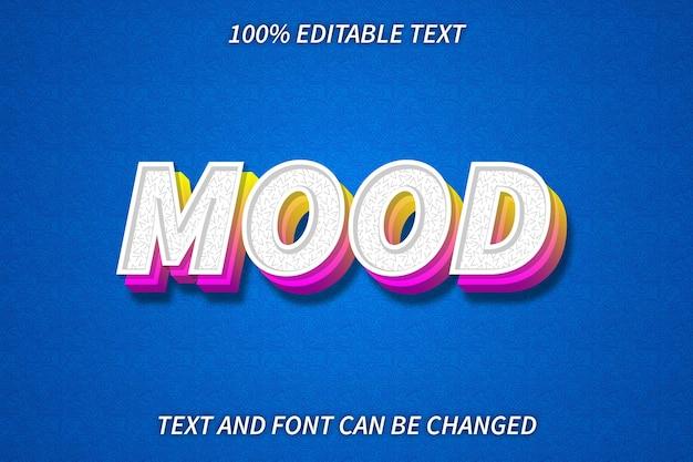 Mood editable text effect emboss style