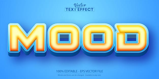Mood text, cartoon style editable text effect