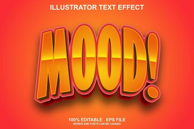 Редактируемый текстовый эффект настроения