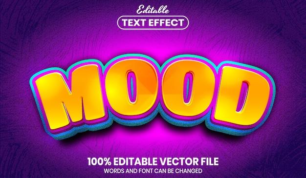 Текст настроения, редактируемый текстовый эффект в стиле шрифта