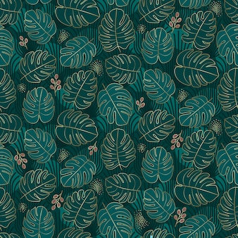 Moody tropical seamless pattern design
