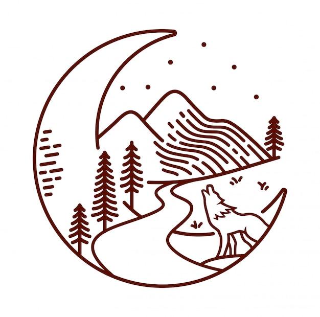 月と夜の線図