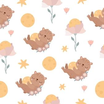 달 곰 패턴
