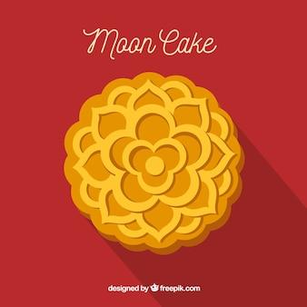 Лунный торт фон в плоском стиле