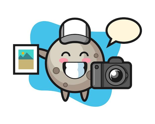 写真家としての月の漫画