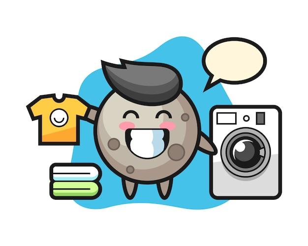 Лунный мультфильм со стиральной машиной