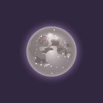 Moon in deep space icon
