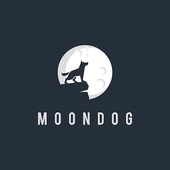 Moon and dog logo design inspiration