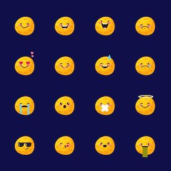 Moon emoji icon set