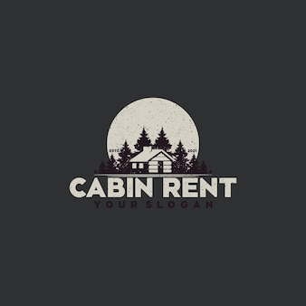 Moon forest view with cabin for village house rent logo