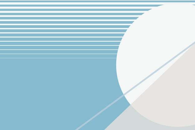 冬の青の月の幾何学的な美的背景