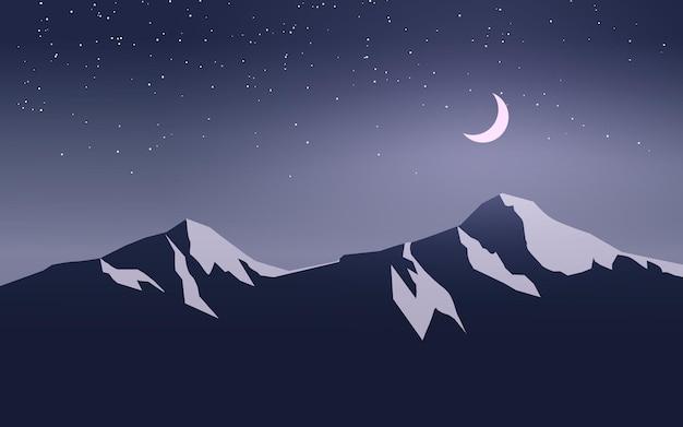산에서 별이 빛나는 밤에 문