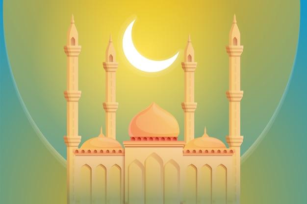 Moon mosque illustration