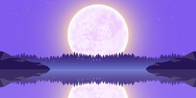 Moon nature landscape