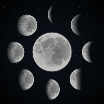 Moon phase set