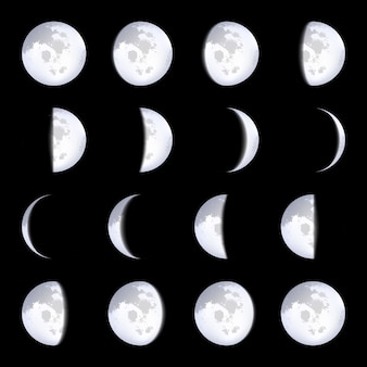 Moon phases schemes