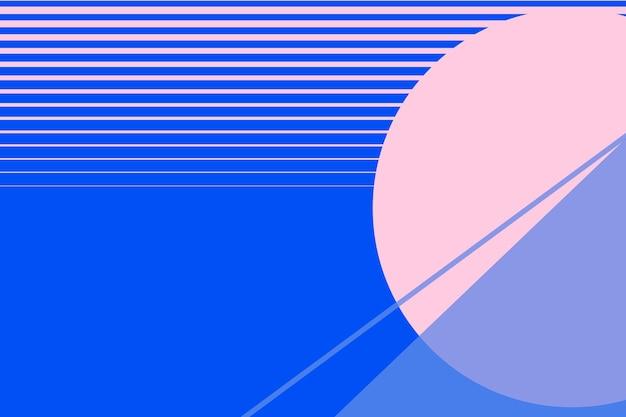 분홍색과 파란색의 달 풍경 배경 벡터