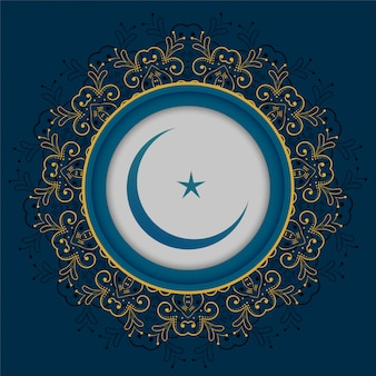 Moon and star islamic design