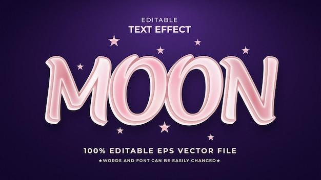 Редактируемый шаблон eps с текстовым эффектом луны