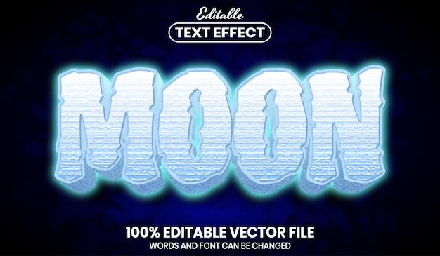 Текст луны, редактируемый текстовый эффект стиля шрифта