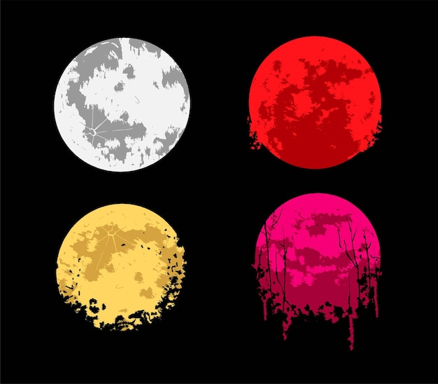 Moon vector illustration, suitable for t-shirt, apparel, print and merchandise products