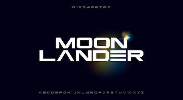Moonlander少しsfをテーマにした大胆なミニマリストワイド書体
