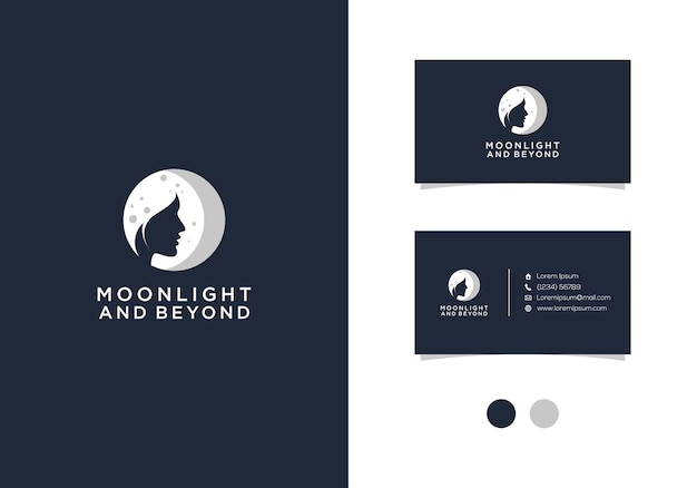 Moonlight and beyond  logo design with business card