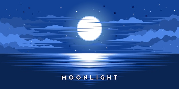Moonlight illustration vector