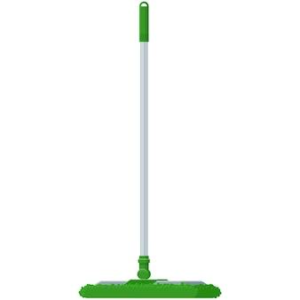 Mop broom vector icon floor clean stick brush illustration