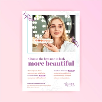More beautiful cosmetic flyer template