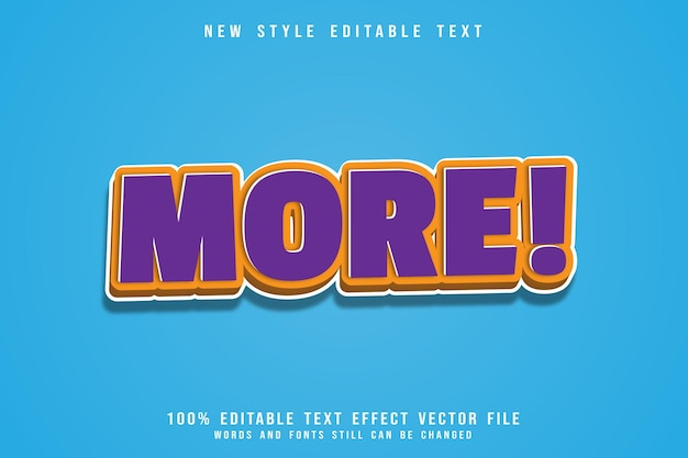 More editable text effect emboss modern style