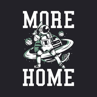 宇宙飛行士が野球のヴィンテージをプレイするより多くの家
