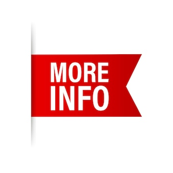 More info red ribbon for paper design. communication icon symbol. website template design. vector stock illustration