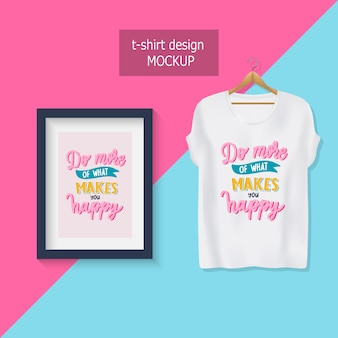 Do more of what makes you happy. lettering motivational quotes. t-shirt design.