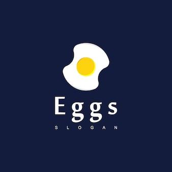 Утренний завтрак векторный дизайн, вдохновение дизайн логотипа яйца